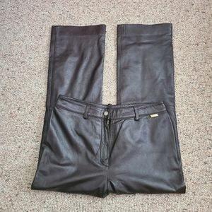 St John Sport Chocolate Brown Leather Pant…